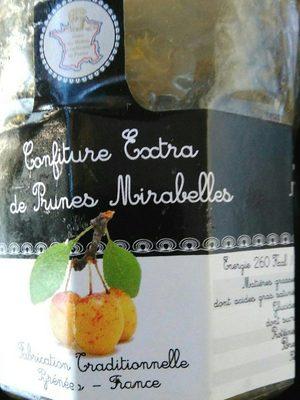 Confiture Extra de prunes mirabelles - Product
