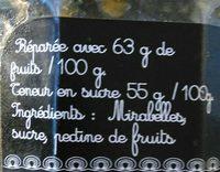 Confiture Extra de prunes mirabelles - Ingredients