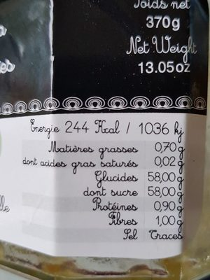 Confiture extra de tomates vertes - Ingrédients - fr