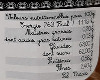 Confiture extra fruits tropicaux - Nutrition facts