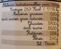 Contiture extra fruits tropicaux - Nutrition facts - fr