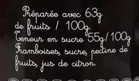 Crème framboise - Ingredienti - fr