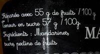 Marmelade mandarine - Ingrédients - fr
