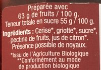 Confiture extra de cerise griotte - Ingredients