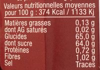 Confiture extra de cerise griotte - Nutrition facts