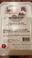Crème Glacée Chocolat Blanc avec Copeaux de Chocolat Blanc - Produit - fr