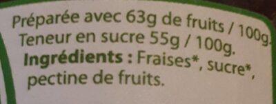Confiture extra Fraise - Ingredients - fr