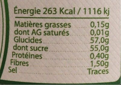 Confiture extra myrtille sauvage - Nutrition facts - fr