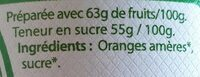 Marmelade Orange Amère - Ingredients - fr