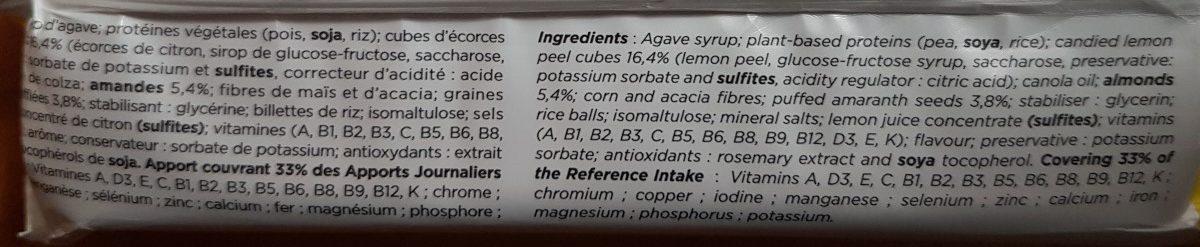Feed citron amarante - Ingredients - fr