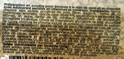 Feed. light Noix de coco Chocolat - Ingrediënten - fr