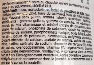 Feed Le repas complet Chocolat - Ingredienti - fr