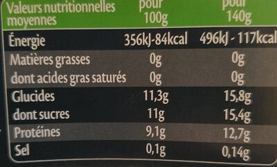 Skyrs myrtille - Nutrition facts