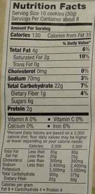 Organic Animal Cookies - Nutrition facts