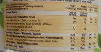 Délicieuse banane croustillante déshydratée - Voedingswaarden - en