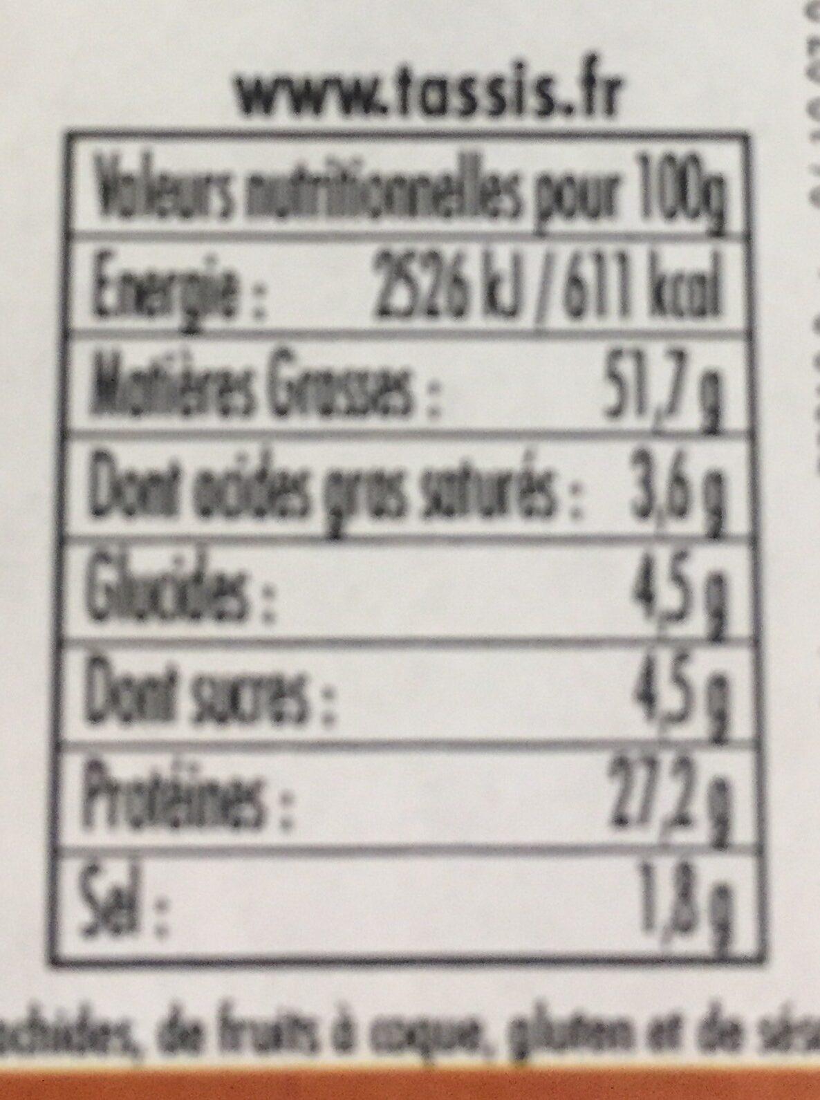 Amandes grillées salées - Ingredients