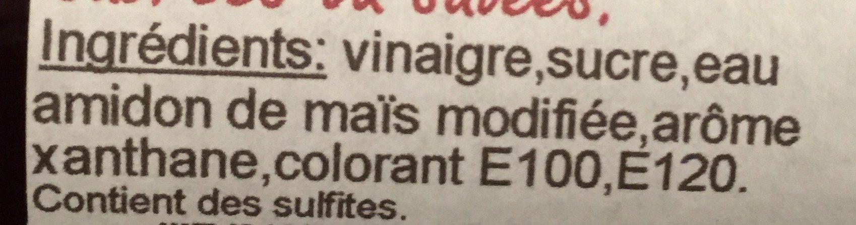 Creme de vinaigre Douce - Ingrédients - fr