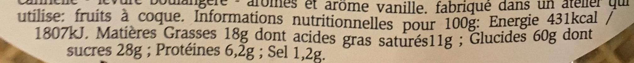 Gaufres fourrées chocolat - Voedingswaarden - fr