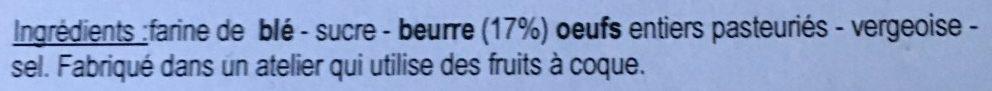Gaufres Fines Pur Beurre - Ingredients
