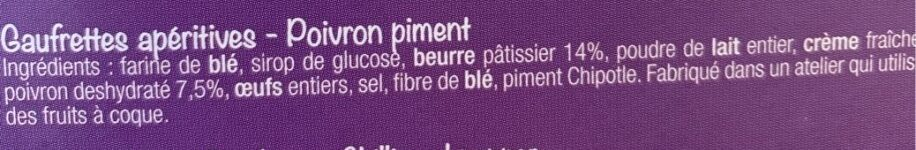 Gaufrettes apéritives au Poivron et piment - Ingrédients