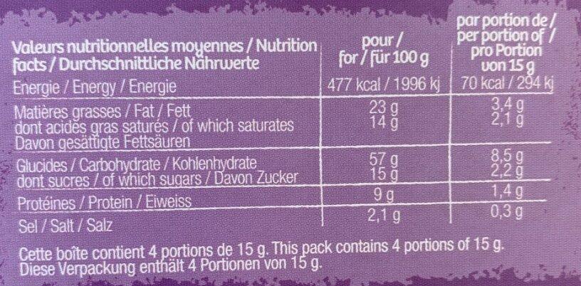 Gaufrettes apéritives au Poivron et piment - Información nutricional