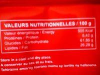 FREGO FRAISE - Informations nutritionnelles