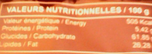 Frego saveur chocolat - Informations nutritionnelles - fr