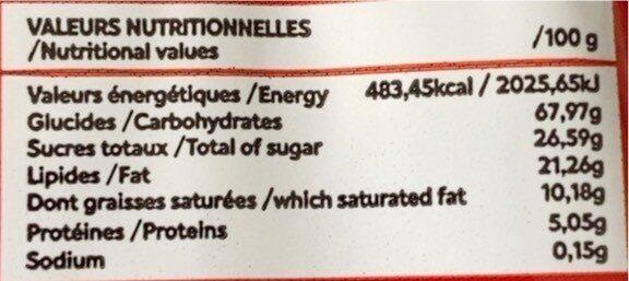 Frego - Informations nutritionnelles - fr