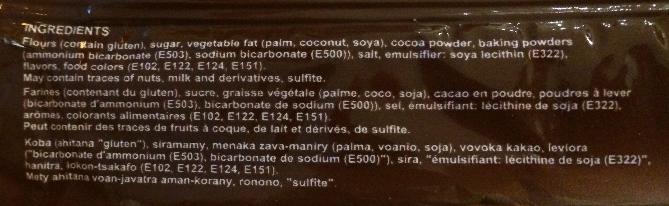 Sablito Chocolat - Gouty - 82 G - Ingrédients