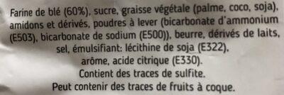 Petit sablé citron - Ingrédients - fr