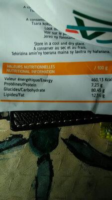 Petit sablé citron - Informations nutritionnelles - fr