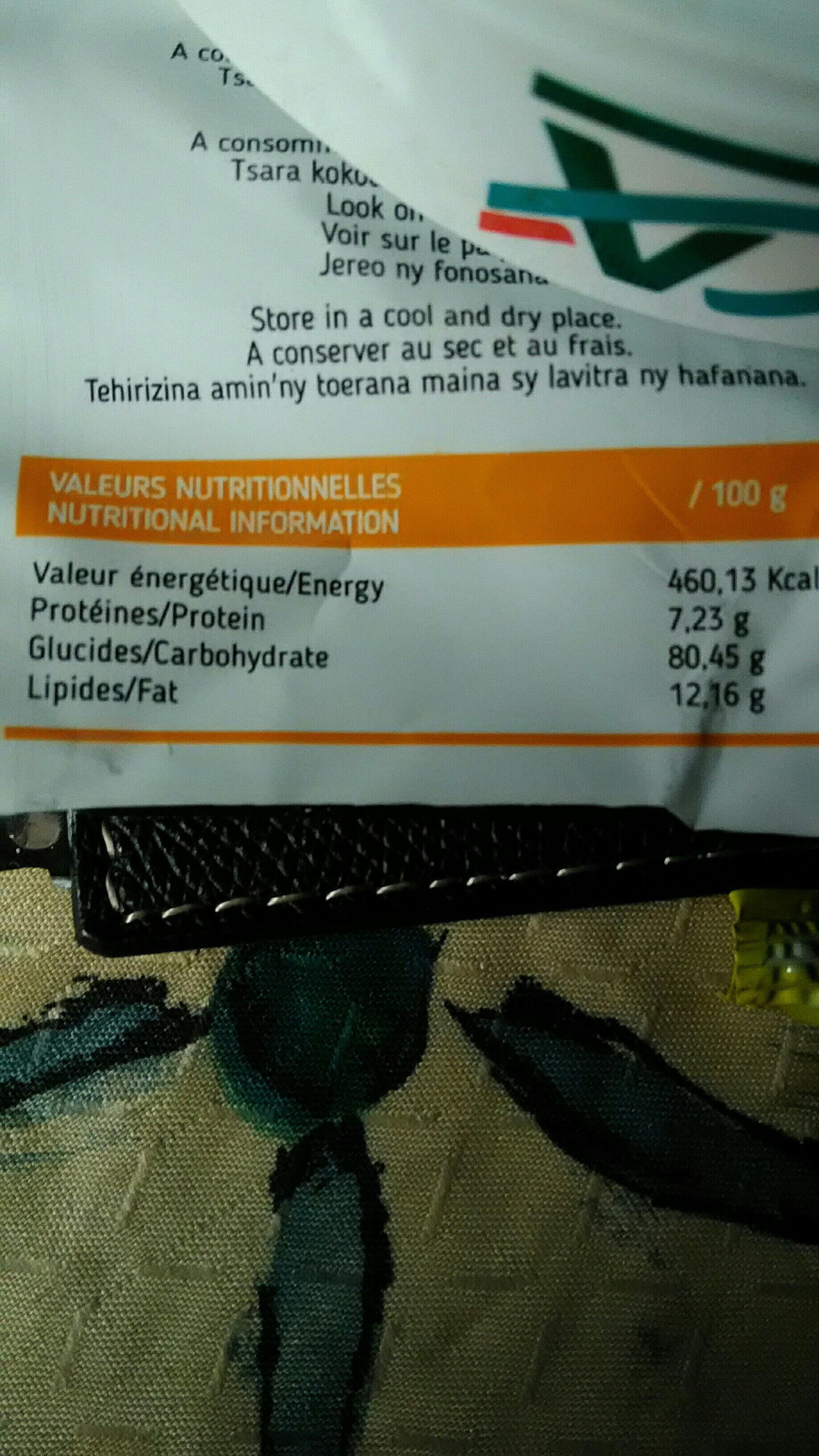 Petit sablé saveur citron - Informations nutritionnelles - fr
