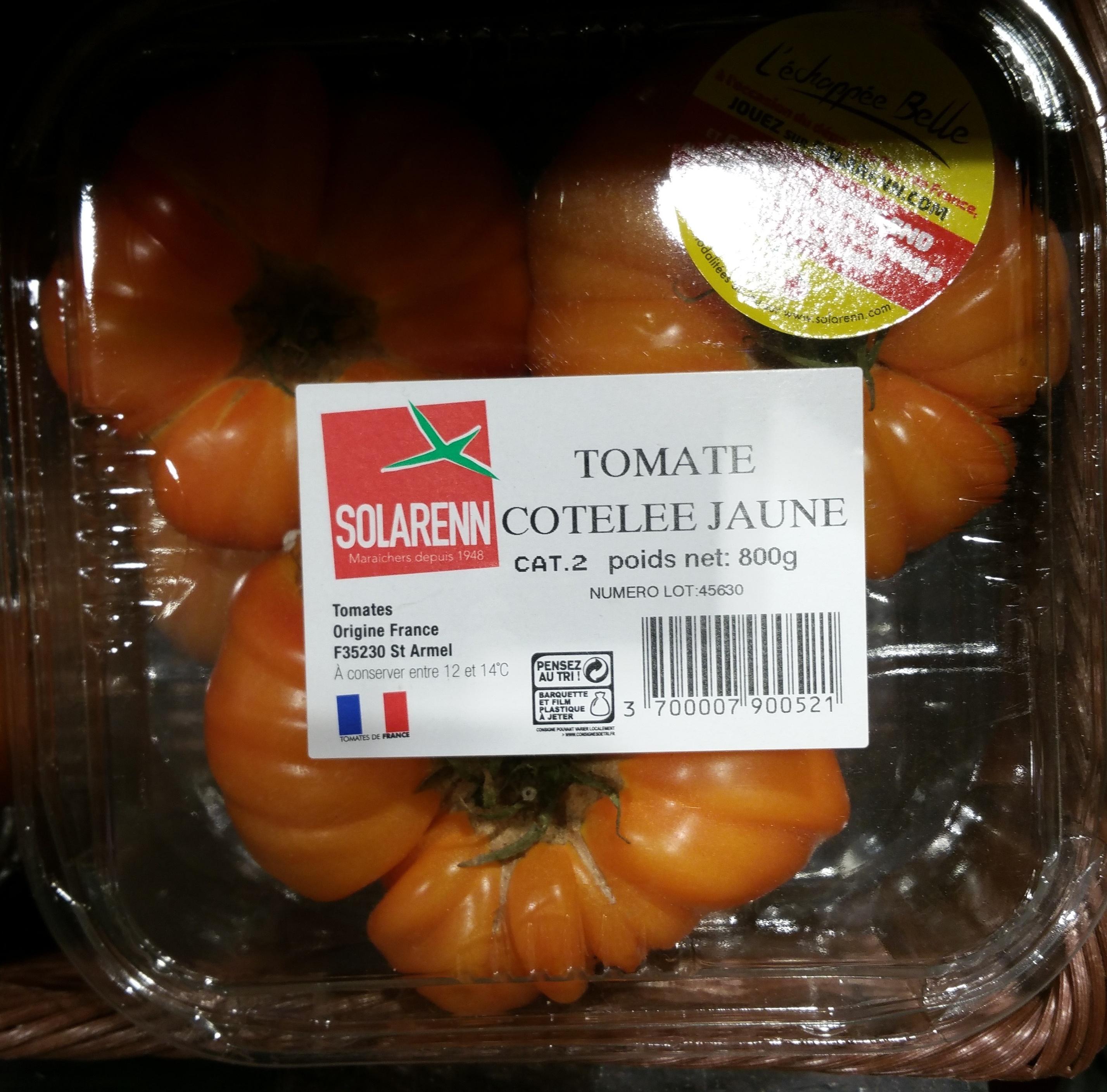 Tomate côtelée Jaune - Produit - fr