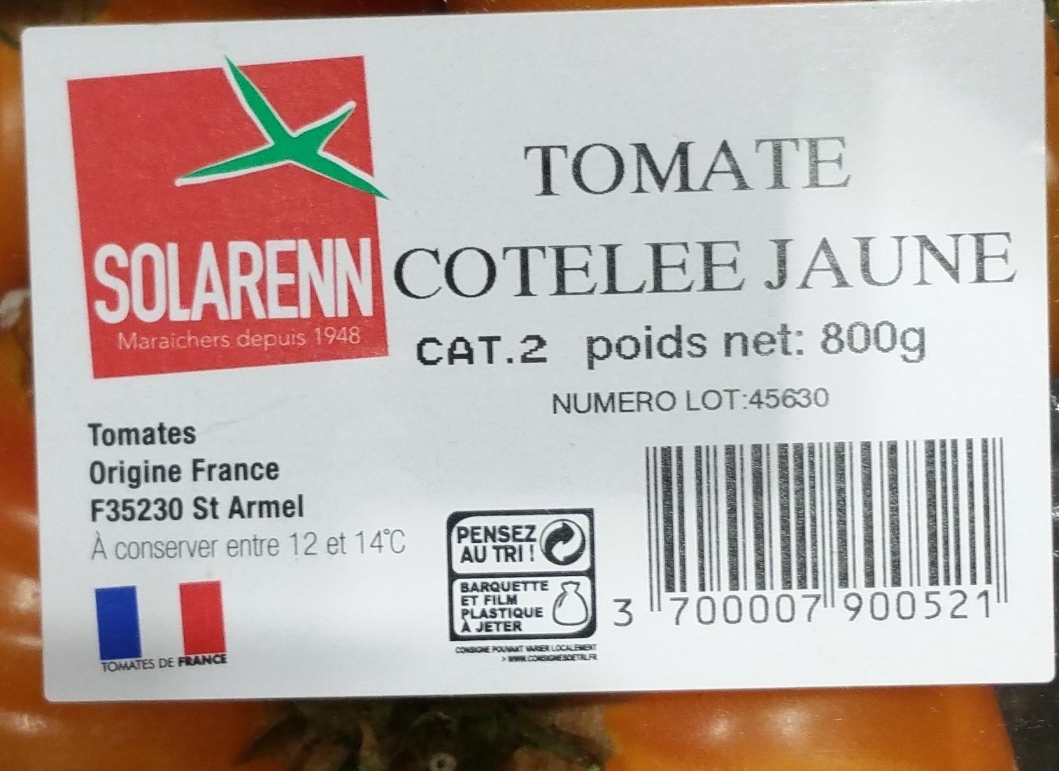 Tomate côtelée Jaune - Ingrédients - fr