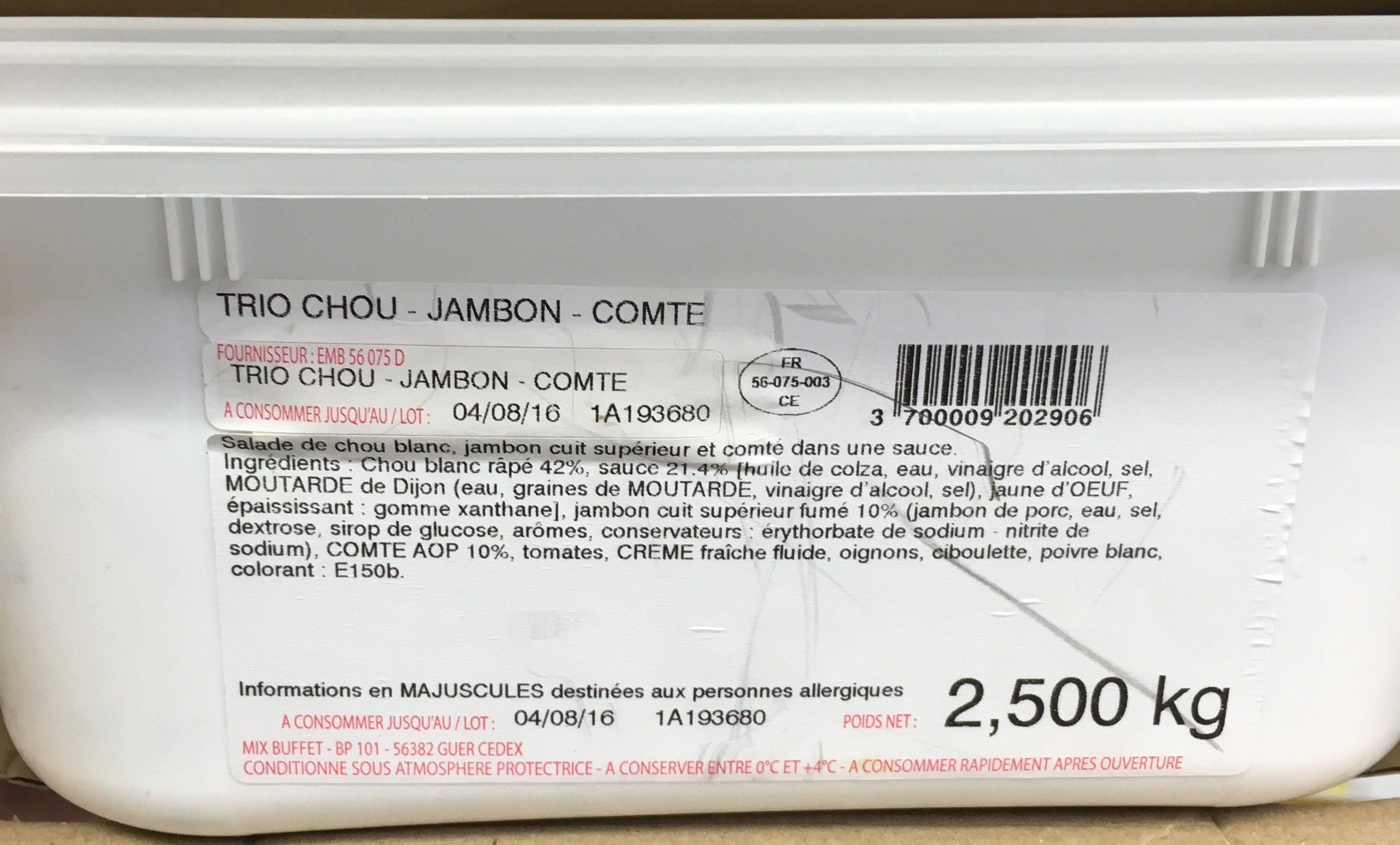 Trio Chou - Jambon - Comté - Produit