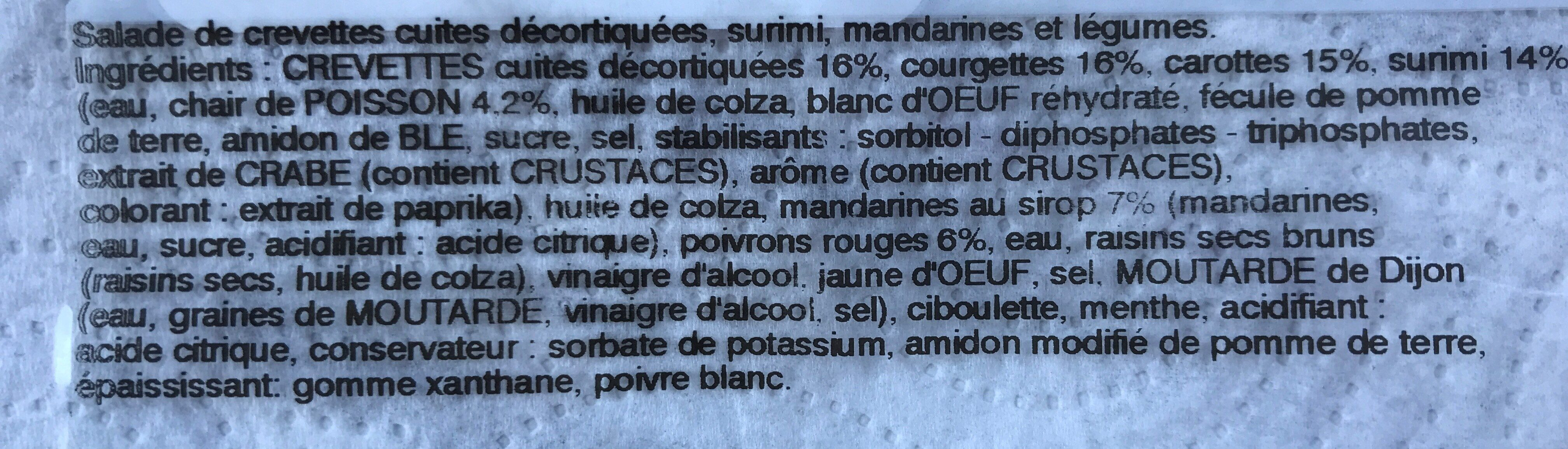 Salade de gambas aux mandarines - Ingredients - fr