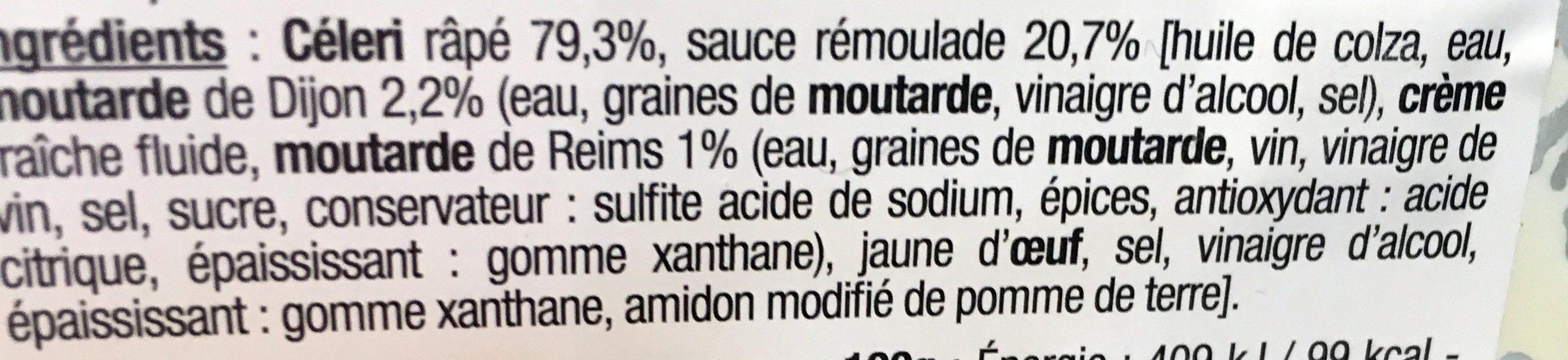 Céleri finement râpé - Ingrédients - fr