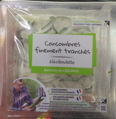 Concombres Finement Tranchés à la Ciboulette - Product - fr