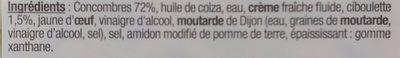 Concombres Finement Tranchés à la Ciboulette - Ingredients - fr