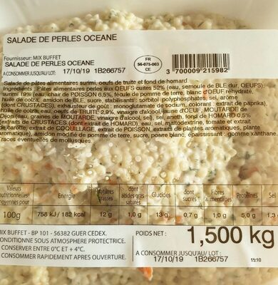 Salade de perles oceane - Product - fr