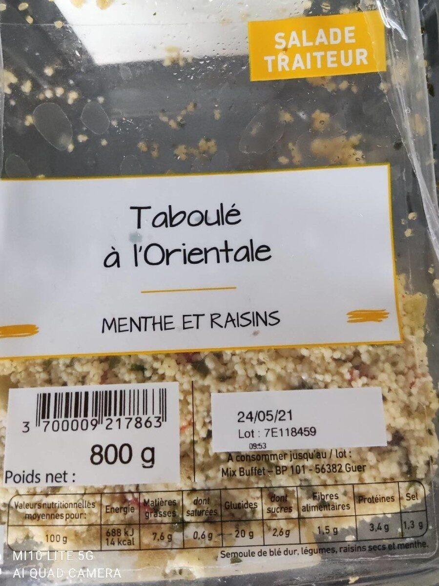 Taboulé a l' orientale - Product - fr
