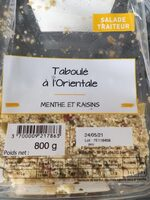 Taboulé a l' orientale - Voedingswaarden - fr