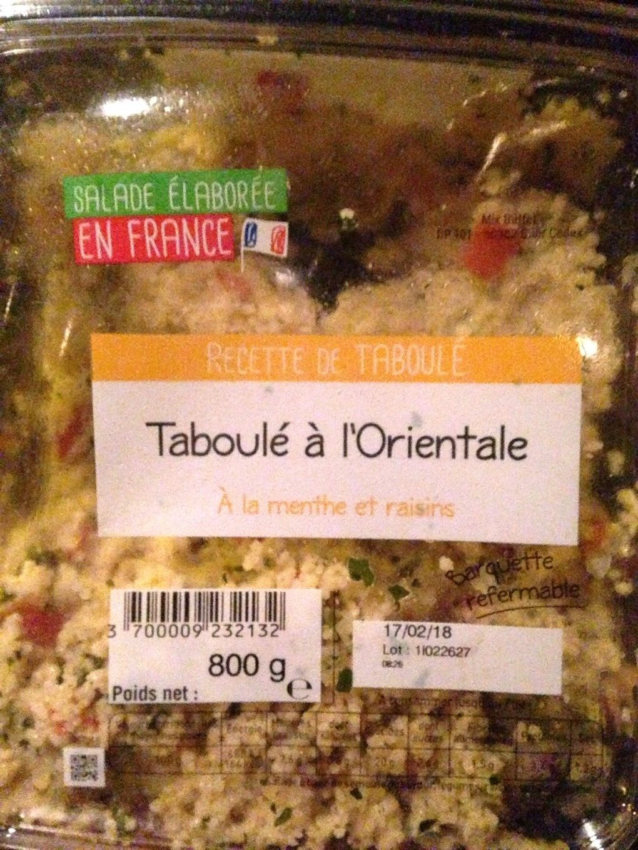 Taboulé Oriental - Produit - fr