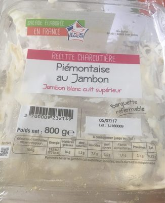 Piemontaise Au Jambon - Product