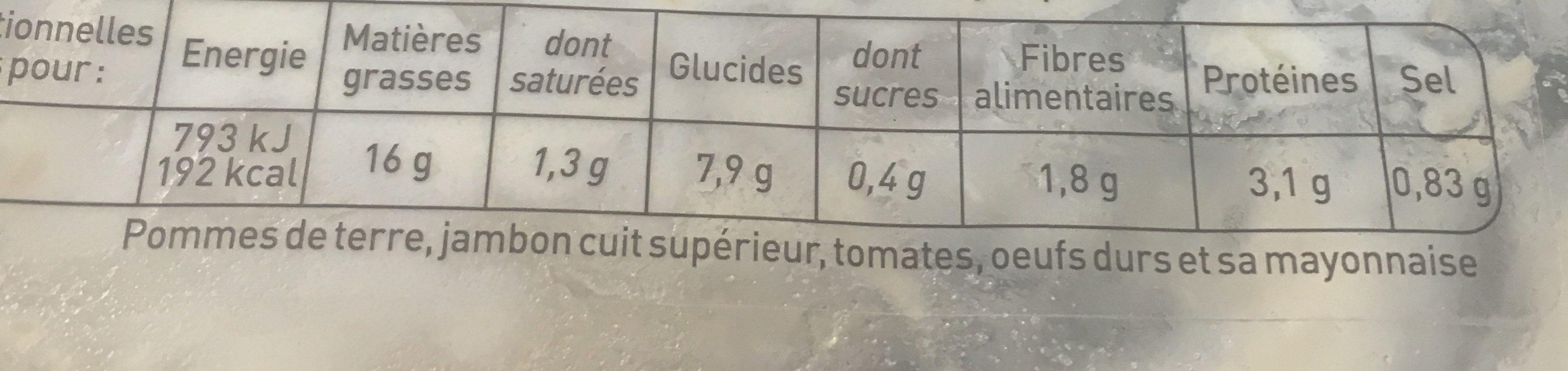 Piemontaise Au Jambon - Ingrediënten