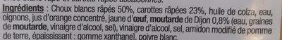 Coleslaw Duo Chou blanc et Carotte - Ingrediënten - fr