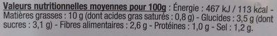 Coleslaw Duo Chou blanc et Carotte - Voedingswaarden - fr