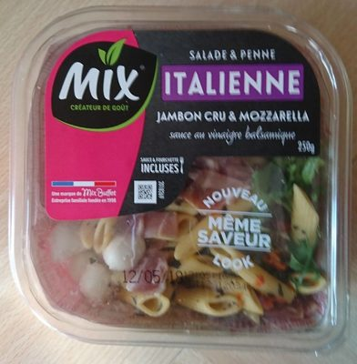Salade Italienne - Salade & penne, jambon cru & Mozzarella - Produit