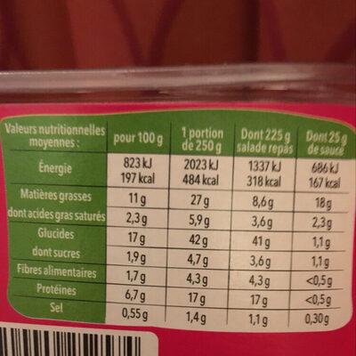 Salade Bol Italienne Mix - Valori nutrizionali - fr