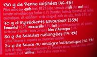Maxi Salade 3 Fromages (Bleu, Mozzarella, Emmental) Penne - Ingrédients